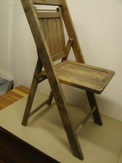 Antique Wooden Folding Chairs in Lot of 6 - Huntington Page 4